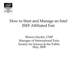 How to Start and Manage an Intel ISEF Affiliated Fair