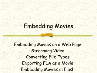 Embedding Movies