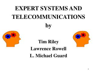 EXPERT SYSTEMS AND  TELECOMMUNICATIONS by Tim Riley Lawrence Rowell L. Michael Guard
