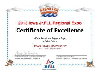 2013 Iowa Jr.FLL Regional Expo
