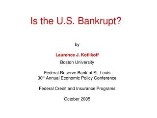 Is the U.S. Bankrupt?