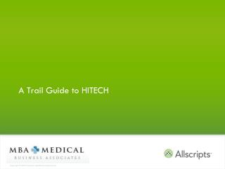 A Trail Guide to HITECH