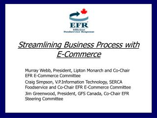 Streamlining Business Process with E-Commerce