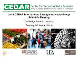 Joint CEDAR International Strategic Advisory Group Scientific Meeting Cambridge Research Institute