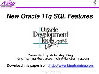 New Oracle 11g SQL Features