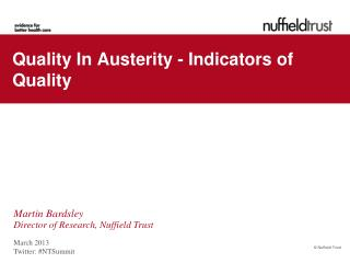 Quality In Austerity - Indicators of Quality