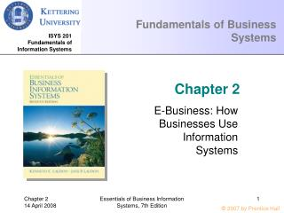 Fundamentals of Business Systems