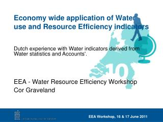Economy wide application of Water use and Resource Efficiency indicators