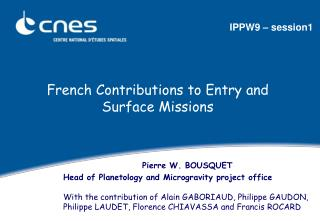 French Contributions to Entry and Surface Missions
