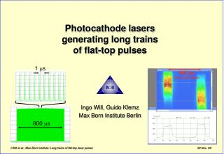 Photocathode lasers  generating long trains of flat-top pulses