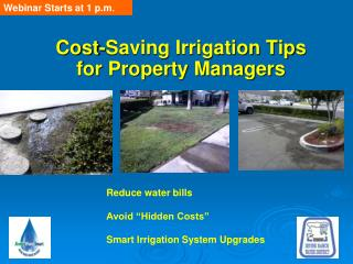Cost-Saving Irrigation Tips    for Property Managers
