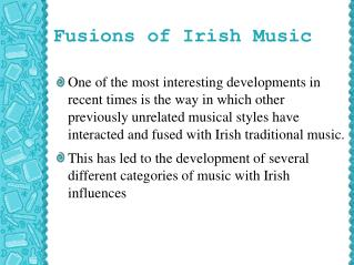 Fusions of Irish Music