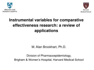 Instrumental variables for comparative effectiveness research: a review of applications