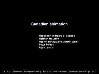 Canadian animation