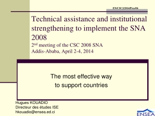The most effective way to support countries