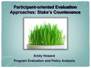 Participant-oriented Evaluation Approaches: Stake's Countenance