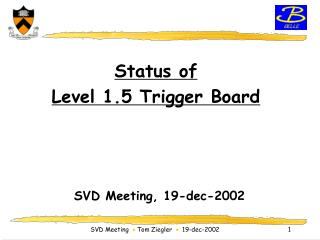 Status of Level 1.5 Trigger Board