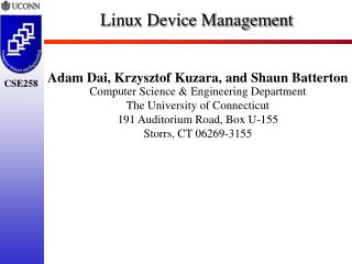 Linux Device Management