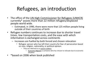 Refugees, an introduction