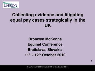 Collecting evidence and litigating equal pay cases strategically in the UK