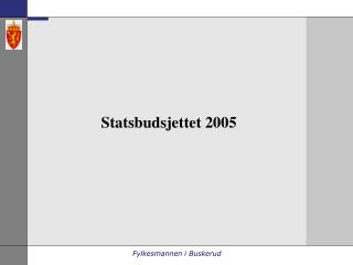 Statsbudsjettet 2005
