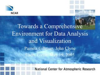 Towards a Comprehensive Environment for Data Analysis and Visualization