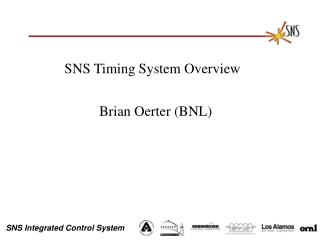 SNS Timing System Overview