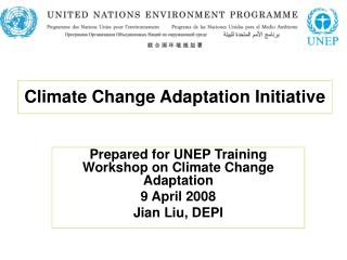 Climate Change Adaptation Initiative