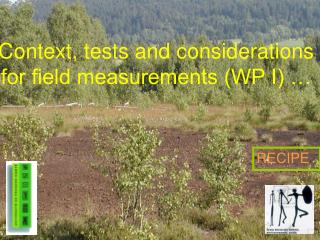 Context, tests and considerations  for field measurements (WP I) …