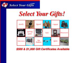 Select Your Gifts!