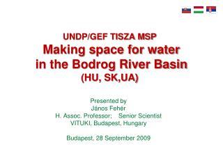 UNDP/GEF TISZA MSP Making space for water  in the Bodrog River Basin  (HU, SK,UA)