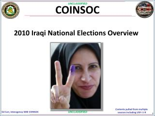 2010 Iraqi National Elections Overview