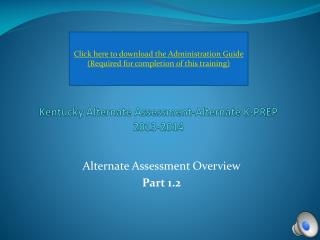 Kentucky Alternate Assessment-Alternate K-PREP 2013-2014