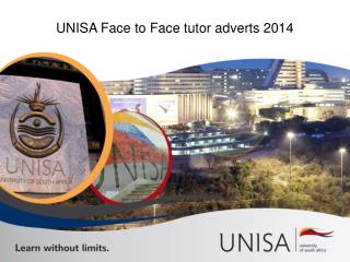 UNISA Face to Face tutor adverts 2014