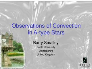 Observations of Convection in A-type Stars