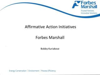 Affirmative Action Initiatives  Forbes Marshall