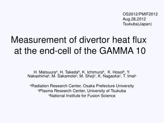Measurement of divertor heat flux at the end-cell of the GAMMA 10