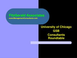 FitzGerald Associates ManagementConsultants