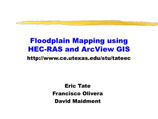 Floodplain Mapping using HEC-RAS and ArcView GIS