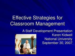 Effective Strategies for Classroom Management