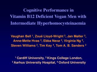 Cognitive Performance in