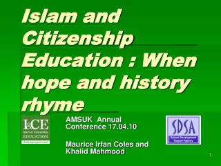 Islam and Citizenship Education : When hope and history rhyme
