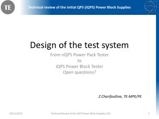 Design of the test system