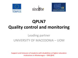 QPLN7  Quality control and monitoring