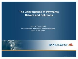 The Convergence of Payments Drivers and Solutions