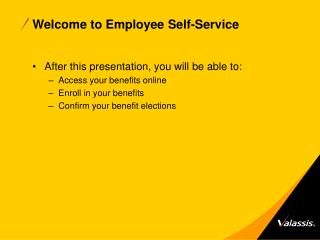 Welcome to Employee Self-Service