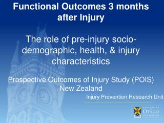 Injury Prevention Research Unit