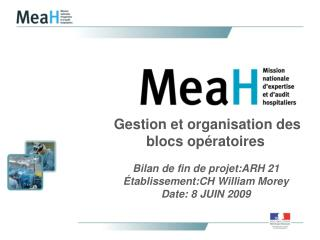 Gestion et organisation des blocs opératoires