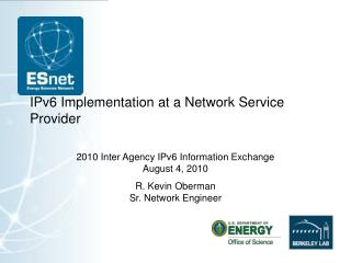 IPv6 Implementation at a Network Service Provider