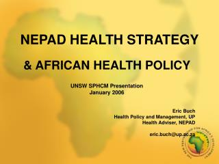 NEPAD HEALTH STRATEGY